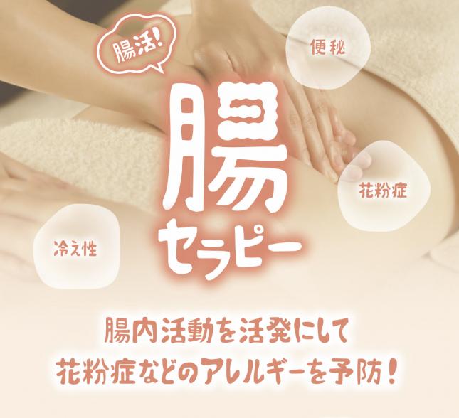 【ご好評】腸セラピーコース 実施中!4月末まで☆
